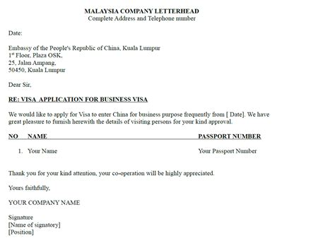 Business Letter Format Phone Number sle of company letter for business visa tripvisa my