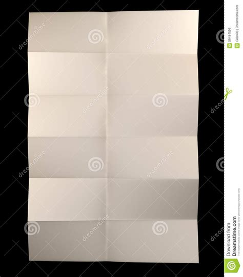 Folded Sheet Of Paper - yellow sheet of paper folded stock illustration image