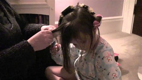 husband forced to sleep in hair rollers julia s first time with hair curlers youtube