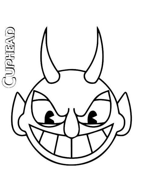 kids  funcom coloring page cuphead devil head