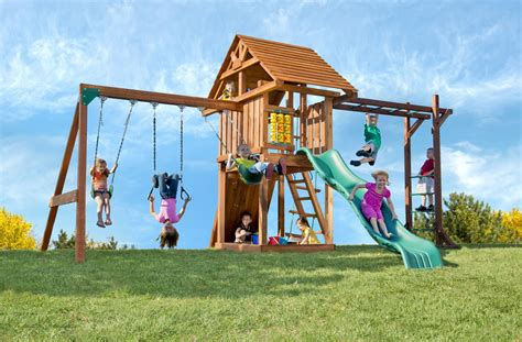 swing set wood wood playsets monkey bars circus deluxe with monkey bars