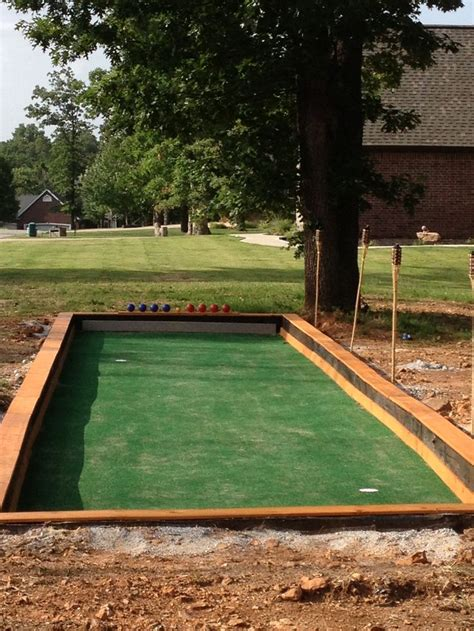 build a bocce court in backyard bocce court putting green for the home pinterest