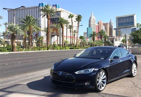 Tesla In Las Vegas Tesla Model S Las Vegas Road Trip