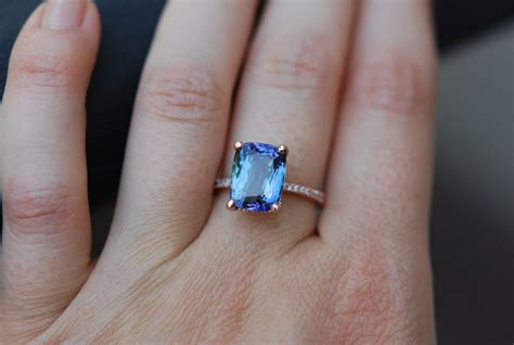 Tanzanite Engagement Rings by Tanzanite Ring Gold Engagement Ring Lavender Blue