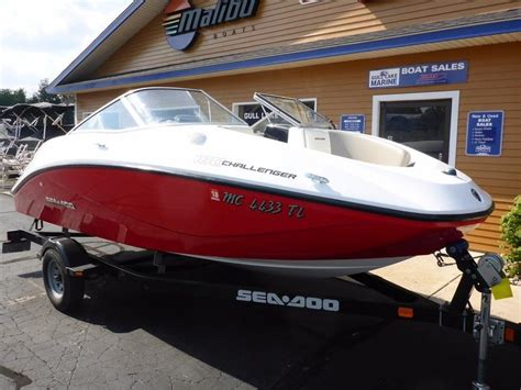 used sea doo boats for sale in michigan 2011 used sea doo challenger 180 jet runabout boat for