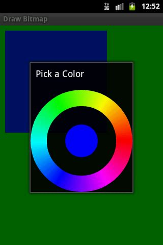 android color picker color picker dialog android exle software and source