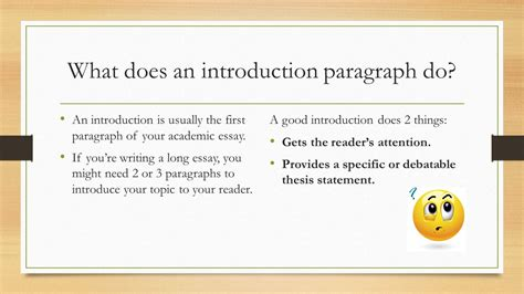 An Introduction 2 by The Introduction Paragraph Ppt