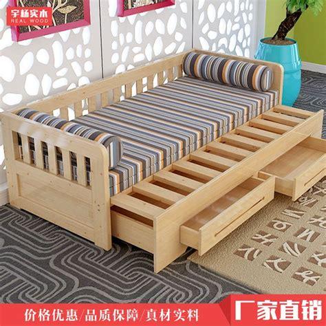 cheap wholesale customized ikea  wood sofa bed small