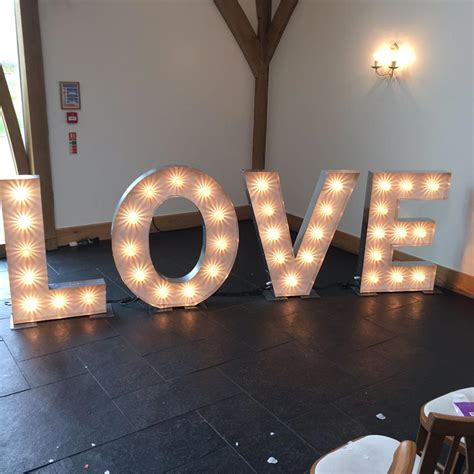 led light  love letters dancefloor djs