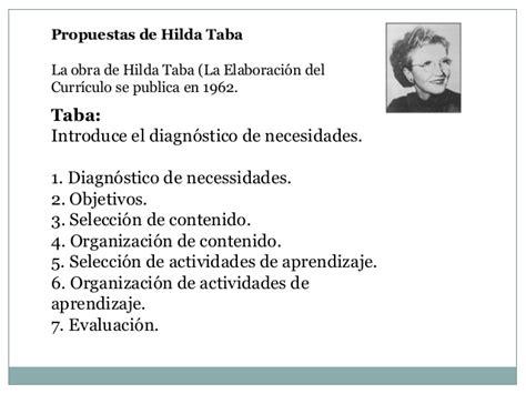 Modelo Curricular Segun Hilda Taba Propuesta De H Taba Y R