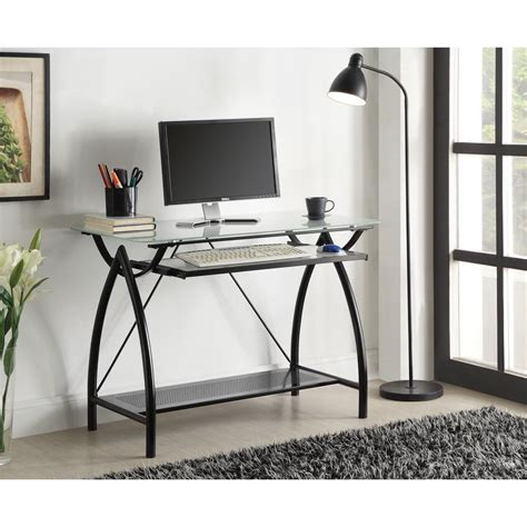 Black Gaming Desk Atlantic Black Gaming Desk 33935701 The Home Depot
