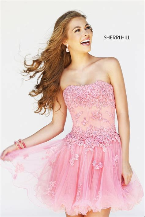 sherri hill strapless tulle and lace body con dress sherri hill 11062 sherri hill elegant xpressions sioux