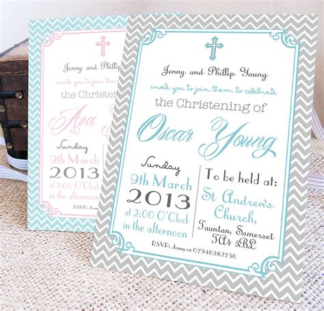 Christening Invitation by Personalised Christening Invitations Christening