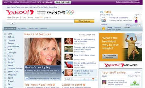 yahoo au new home page unveiled