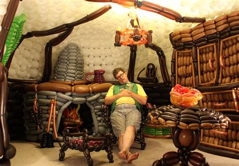 hobbit furniture lord of the rings fan builds hobbit hole using 2 600