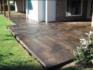 stained concrete patio garden yard