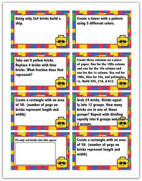 free printable lego math challenge cards my joy filled life