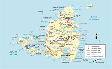 map of st islands st maarten martin travel board on martin