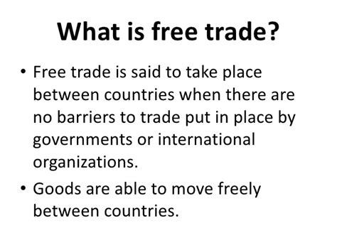 what are trade free trade protectionism part 1 international economics