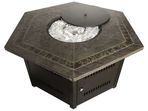 hexagon pit az patio heaters hexagon firepit faux top azwlfhex