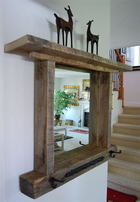reclaimed wood mirror frame shock 1000 ideas about pallet
