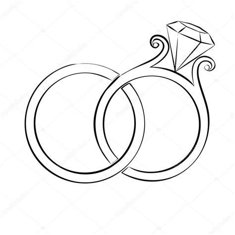 wedding rings skech stock vector 83138474
