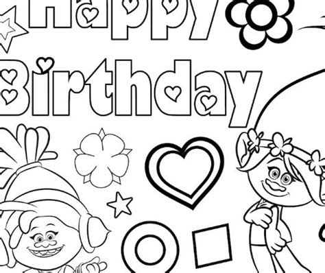 happy birthday poppy coloring pages troll coloring page free coloring pages online