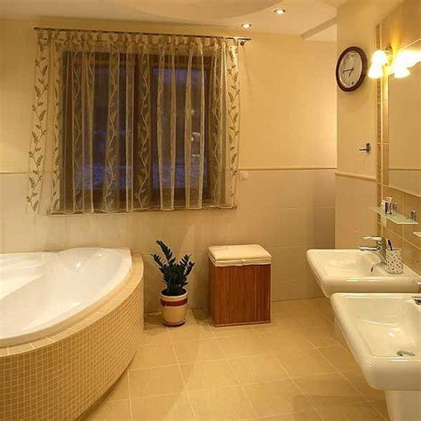 simple and nice bathroom window treatments the wooden houses