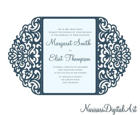 Silhouette Cameo Card Templates by 1000 Ideas About Wedding Invitations Silhouette On