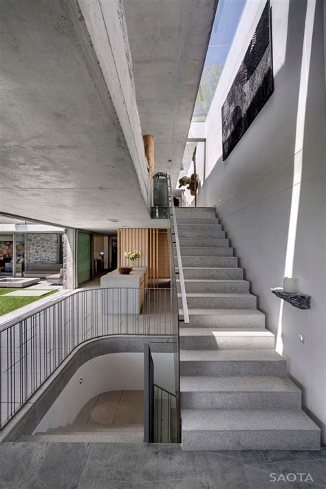 Interior Concrete Stairs Design Opulent Bantry Bay Residence In Cape Town Offers Spectacular Views
