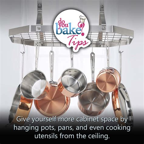 hang pots and pans from the ceiling do you bake