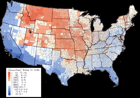 us map of nuclear fallout increasing cancer mortality rates despite technological