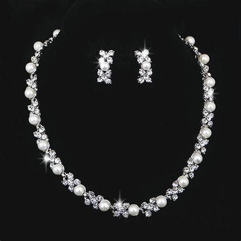 hochzeitsschmuck silber wedding jewelry sets silver artificial pearl rhinestone