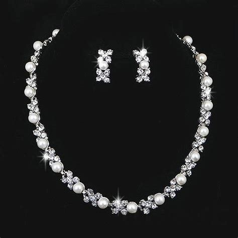 Hochzeitsschmuck Silber by Wedding Jewelry Sets Silver Artificial Pearl Rhinestone