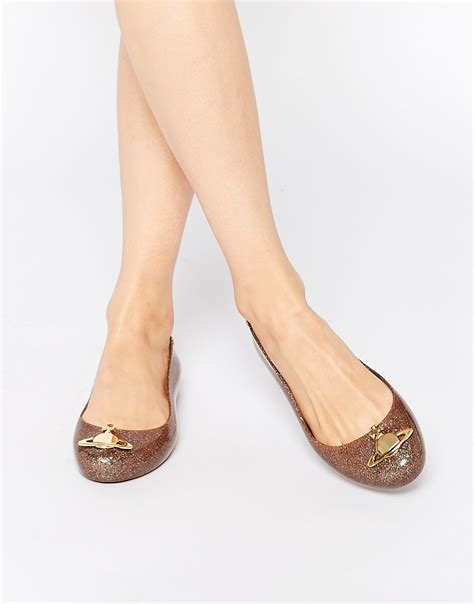 vivienne westwood flat shoes vivienne westwood anglomania gold glitter space