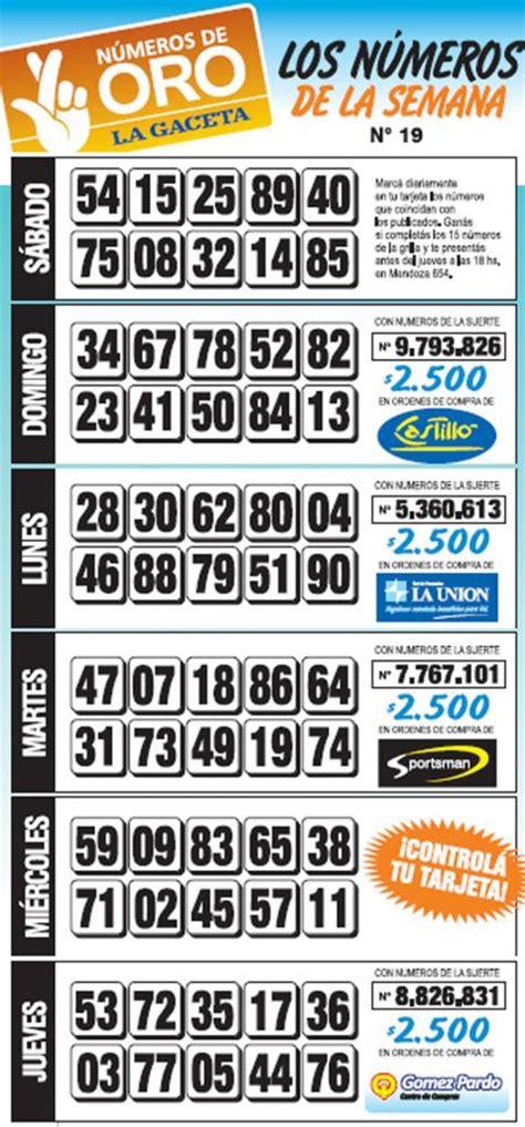 Numeros De Oro La Gaceta Grilla Completa Semana 21 | la grilla completa de los n 250 meros de oro de la semana n