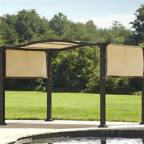 315 essential garden curved pergola with canopy limited