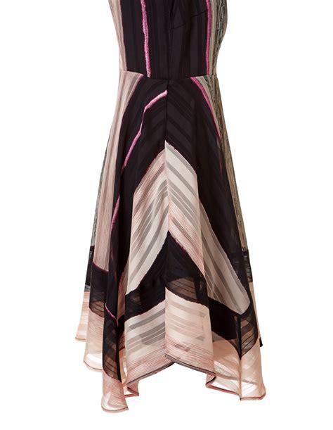 Dress Dress Tile Hitam Pink Black soft pink stripe sharkbite dress cleo