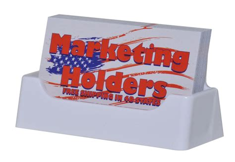 white plastic business card holder display stand desk top    usa ebay