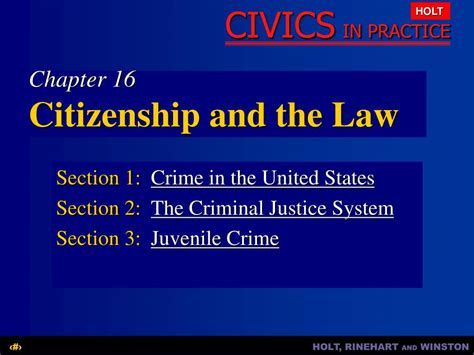 what is section in law ppt chapter 16 citizenship and the law powerpoint