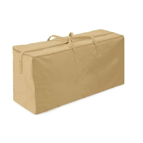 Two Dogs Designs Khaki Patio Cushion Storage Bag 2D