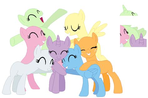 my little pony mane 6 base mane 7 base by selenaede on deviantart