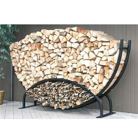 firewood holder 8ft semicircle firewood rack w kindling holder cover