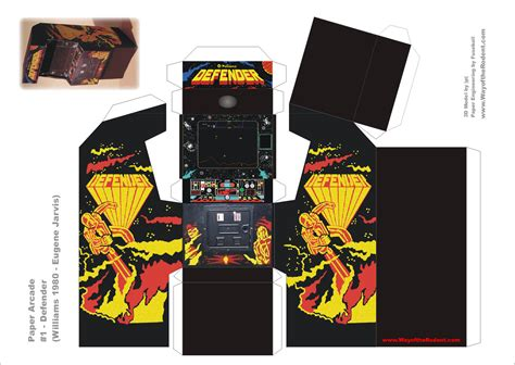 Arcade Papercraft - arcade machine papercrafts uncustomary