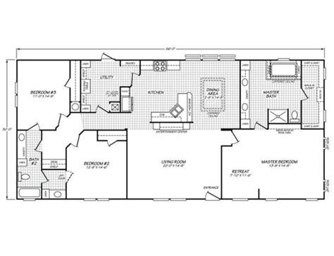 fleetwood mobile home plans canyon lake 32663g fleetwood homes mobile home floor