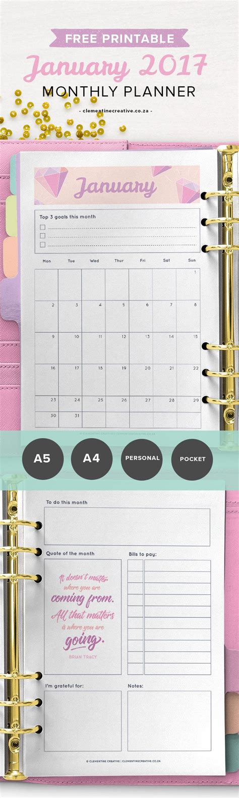 printable monthly pocket planner 25 best ideas about monthly planner template on pinterest