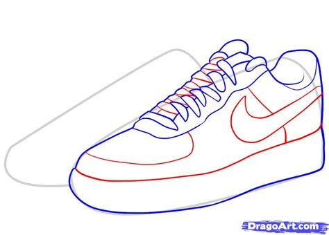 how to draw nike how to draw air ones step by step