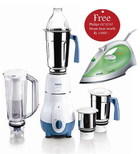 Mixer Philip philips hl1645 00 4 jars mixer grinder with philips gc1010 steam iron free worth rs1395 by