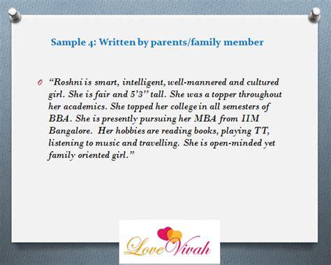 profile description for marriage sle 5 stunning matrimonial profile description sles
