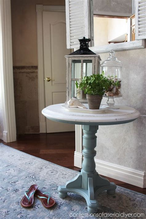 diy chalk paint with behr mesas pedestal tables and paint on